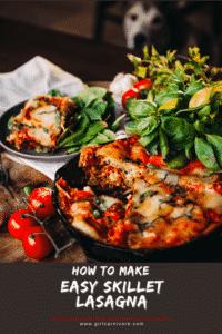 How to Make Easy Skillet Lasagna PIN
