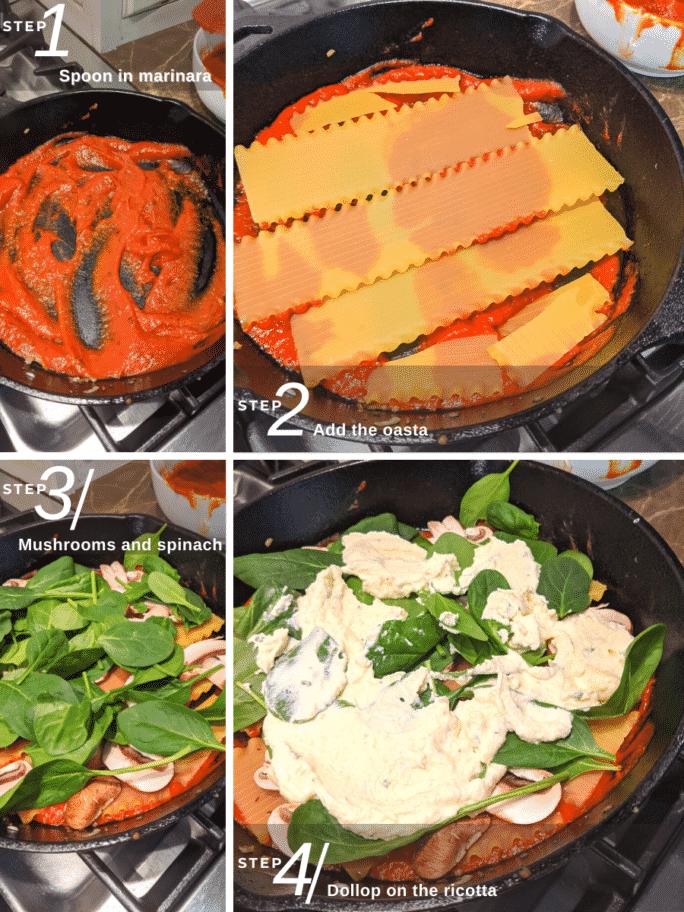 Steps to Make Skillet Lasagna in Iron Skillet