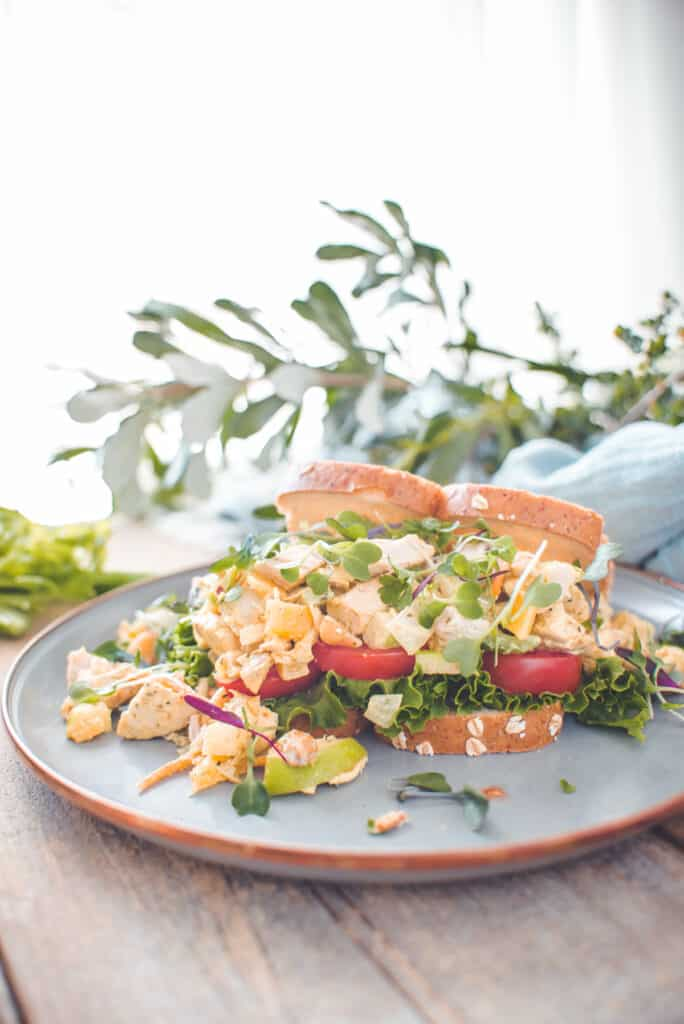 Curry Chicken Salad Recipe with Leftover Rotisserie Chicken