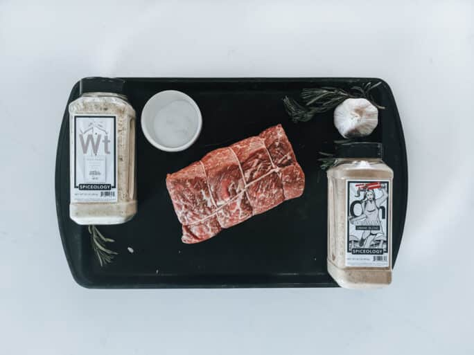 Round roast beef and other ingredients to cook Char-grilled Roast Beef