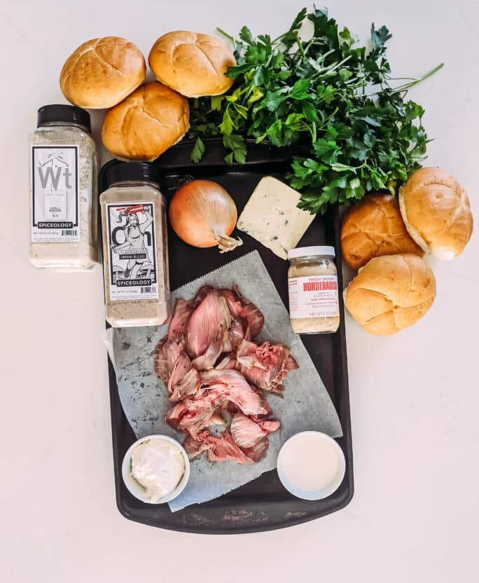Ingredients to Make Smoked Pit Beef Sandwich