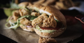 Fried Catfish Po'boys with Spicy Remoulade Sauce
