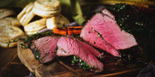 Herb Rubbed Top Round Roast Beef | Kita Roberts GirlCarnivore.com
