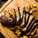 Grilled Tri-Tip Steak with Mushrooms and Herb Compound Butter